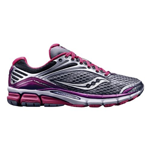 Womens Saucony Triumph 11 Running Shoe - Grey/Purple 9.5