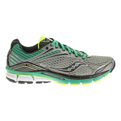 Womens Saucony Triumph 11 Running Shoe - Grey/Teal 7.5