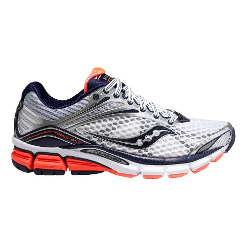 Womens Saucony Triumph 11 Running Shoe - White/Coral 12