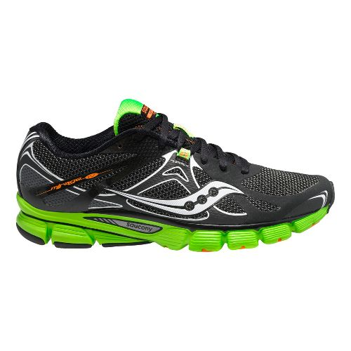 Mens Saucony Mirage 4 Running Shoe - Black/Green 10