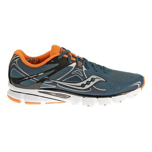 Mens Saucony Mirage 4 Running Shoe - Navy/Viziorange 12.5