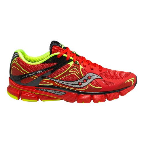 Mens Saucony Mirage 4 Running Shoe - Red/Black 8.5