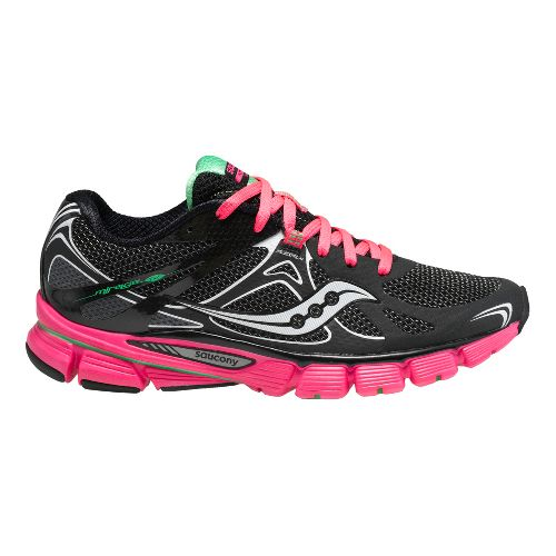 Womens Saucony Mirage 4 Running Shoe - Black/Pink 7.5