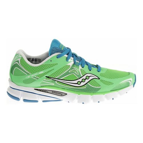 Womens Saucony Mirage 4 Running Shoe - Green/Blue 5