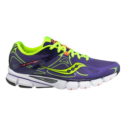 Womens Saucony Mirage 4 Running Shoe - Purple/Citron 7