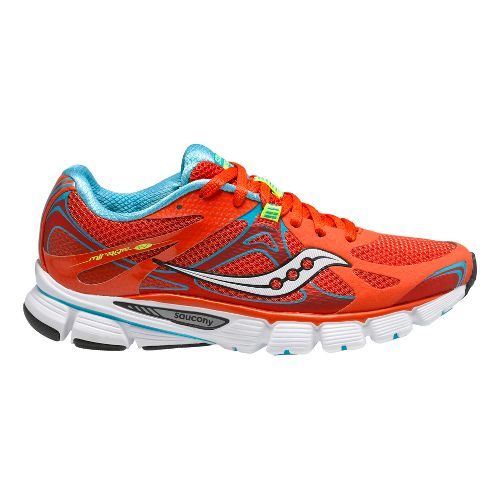Womens Saucony Mirage 4 Running Shoe - Red/Blue 7.5