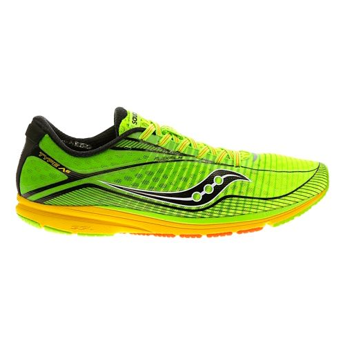 Mens Saucony Type A6 Racing Shoe - Slime/Yellow 10.5