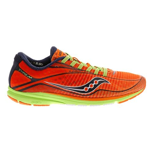 Womens Saucony Type A6 Racing Shoe - Orange/Green 7.5