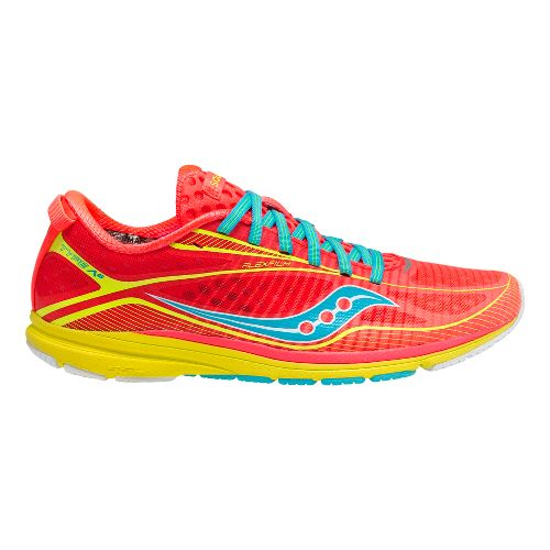Womens Saucony Type A6 Racing Shoe - Coral 9.5