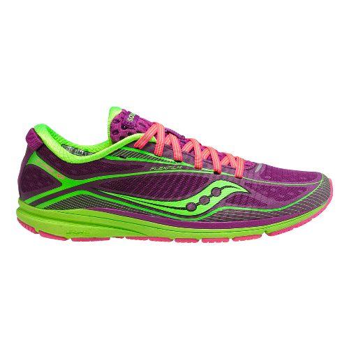 Womens Saucony Type A6 Racing Shoe - Purple/Slime 5.5
