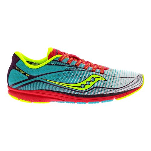 Womens Saucony Type A6 Racing Shoe - Orange/Green 7