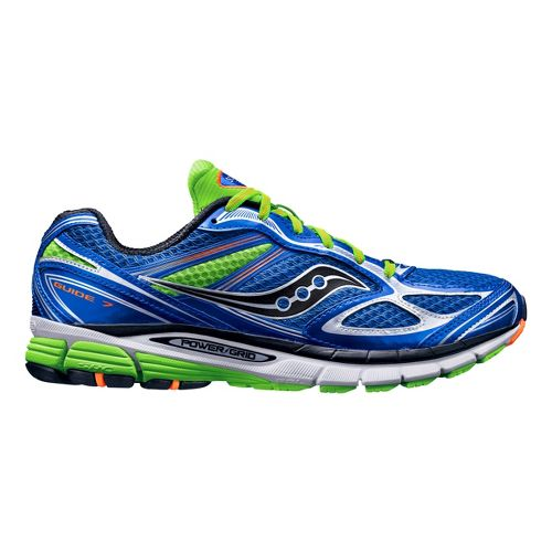 Mens Saucony Guide 7 Running Shoe - Blue/Green 10.5
