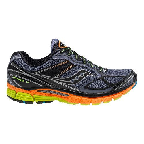 Mens Saucony Guide 7 Running Shoe - Grey/Orange 9.5