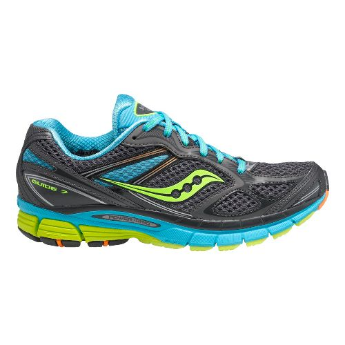 Womens Saucony Guide 7 Running Shoe - Grey/Blue 5