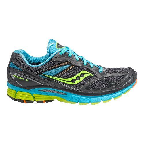 Womens Saucony Guide 7 Running Shoe - Grey/Blue 6.5