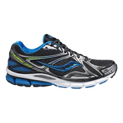 Mens Saucony Hurricane 16 Running Shoe - Black/Blue 10.5