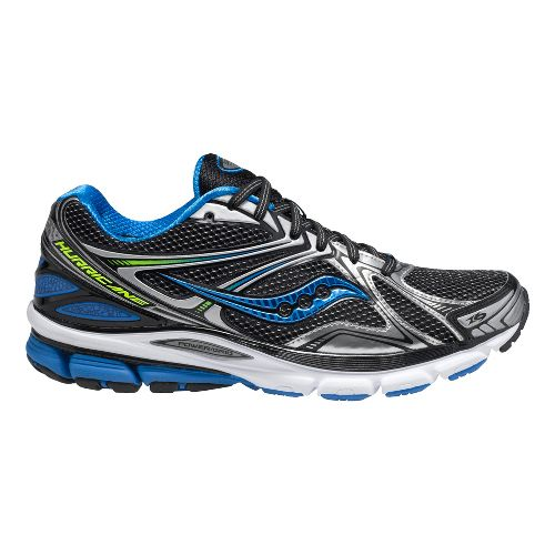 Mens Saucony Hurricane 16 Running Shoe - Black/Blue 12.5