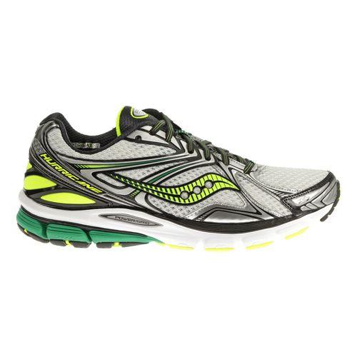Mens Saucony Hurricane 16 Running Shoe - White/Green 8.5