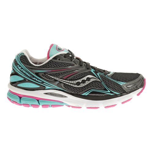 Womens Saucony Hurricane 16 Running Shoe - Black/Blue 6.5