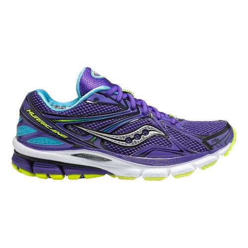 Womens Saucony Hurricane 16 Running Shoe - Purple 7.5