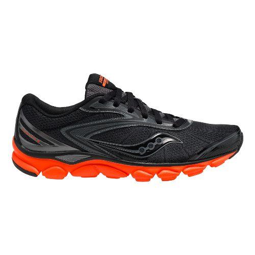 Mens Saucony Virrata 2 Running Shoe - Black/Orange 12.5
