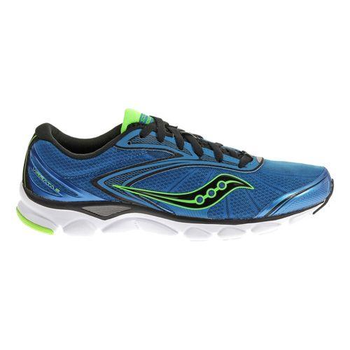 Mens Saucony Virrata 2 Running Shoe - Blue/Slime 7.5