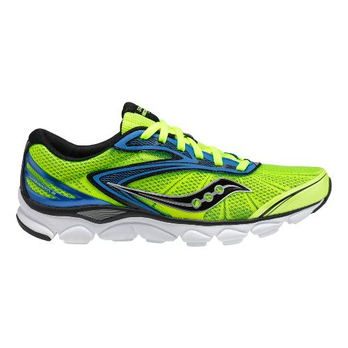 Mens Saucony Virrata 2 Running Shoe - Citron/Blue 12.5