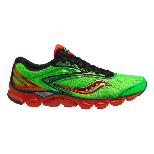 Mens Saucony Virrata 2 Running Shoe - Slime/Black 11.5