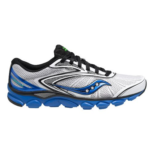 Mens Saucony Virrata 2 Running Shoe - White/Blue 8