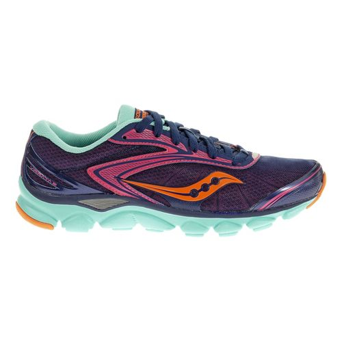 Womens Saucony Virrata 2 Running Shoe - Blue/Pink 7