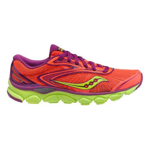 Womens Saucony Virrata 2 Running Shoe - Vizicoral/Purple 9.5
