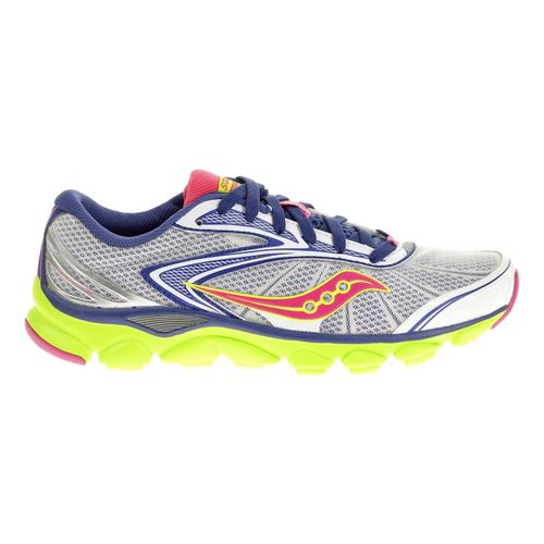 Womens Saucony Virrata 2 Running Shoe - White/Purple 6