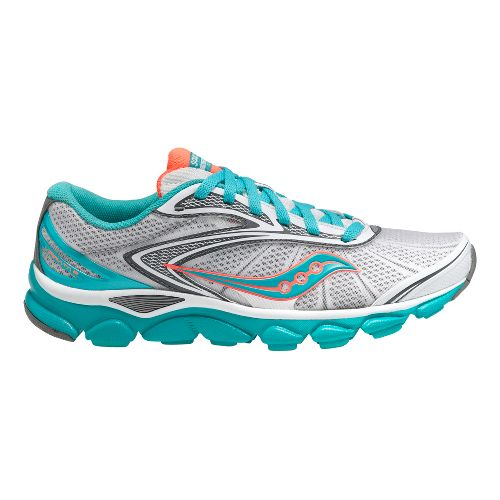 Womens Saucony Virrata 2 Running Shoe - White/Teal 11.5