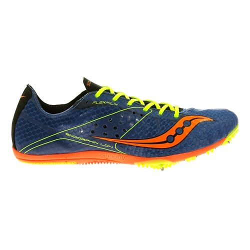 Mens Saucony Endorphin LD4 Track and Field Shoe - Blue 7.5