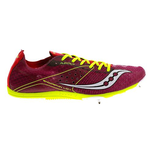Womens Saucony Endorphin LD4 Track and Field Shoe - Berry 7.5