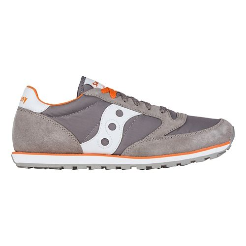 Mens Saucony Jazz Low Pro Casual Shoe - Grey/Orange 10.5