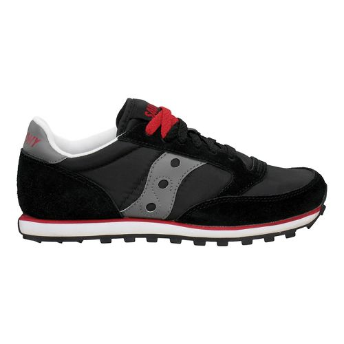 Mens Saucony Jazz Low Pro Casual Shoe - Black/Dark Grey 11