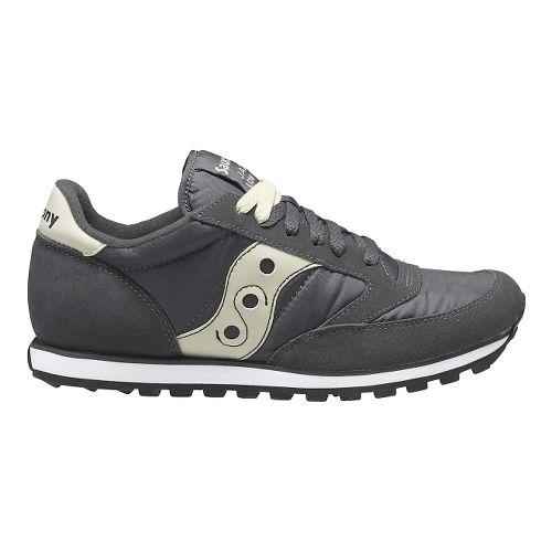 Mens Saucony Jazz Low Pro Casual Shoe - Dark Grey/Tan 8.5