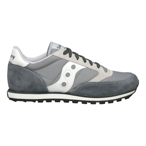 Mens Saucony Jazz Low Pro Casual Shoe - Grey/White 10.5