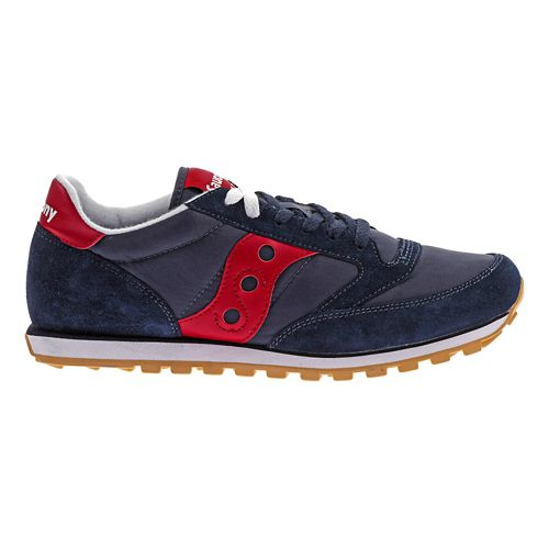 Mens Saucony Jazz Low Pro Casual Shoe - Navy/Red 8.5