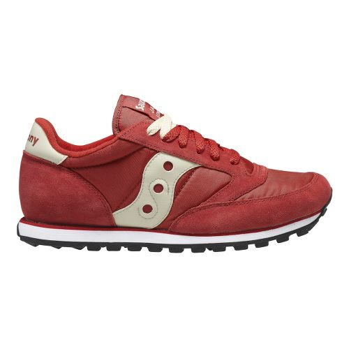 Mens Saucony Jazz Low Pro Casual Shoe - Red 9.5