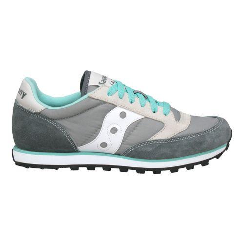 Womens Saucony Jazz Low Pro Casual Shoe - Grey/White 5