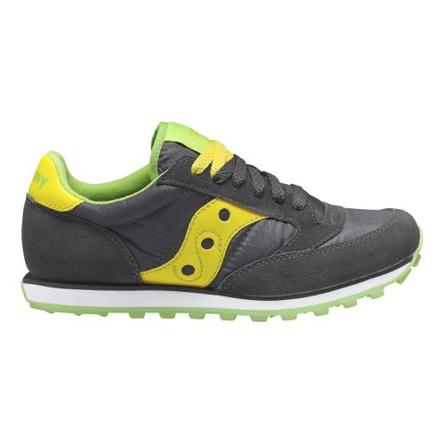 Womens Saucony Jazz Low Pro Casual Shoe - Grey/Yellow 6.5