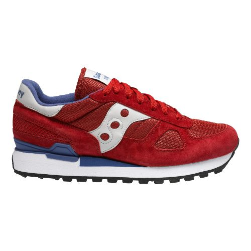 Mens Saucony Shadow Original Casual Shoe - Red 11.5