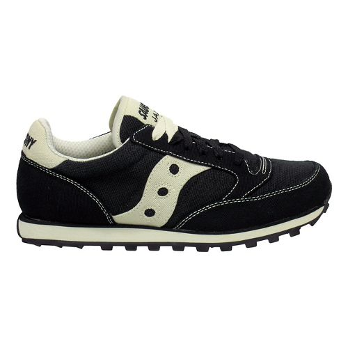 Womens Saucony Jazz Low Pro Vegan Casual Shoe - Black/Oatmeal 5