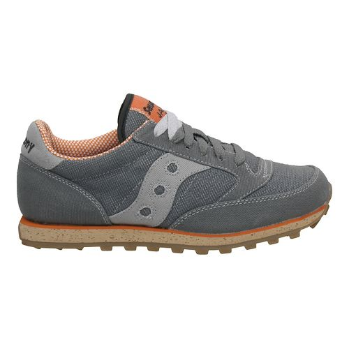 Womens Saucony Jazz Low Pro Vegan Casual Shoe - Charcoal/Orange 7