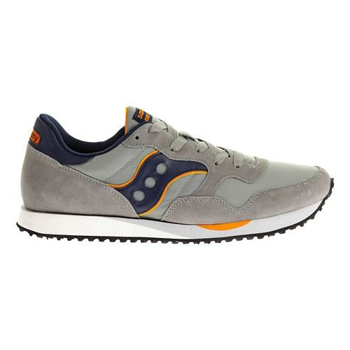 Mens Saucony DXN Trainer Casual Shoe - Grey/Navy 8.5