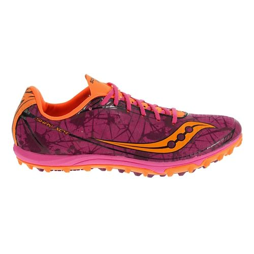Womens Saucony Shay XC4 Spike Cross Country Shoe - Raspberry 7.5