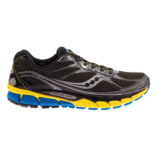 Mens Saucony Ride 7 Running Shoe - Grey/Yellow 10.5
