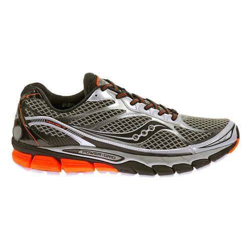Mens Saucony Ride 7 Running Shoe - White/Black 15